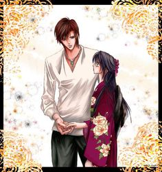 "Title: ""Akogare no Hito"" (Scene from Skip Beat - Tsuruga Ren & Kyoko - Anael08.deviantart.com)  Funny how I find my own coloring on pinterest pinned from over a year ago haha.  In a way, I'm kind of flattered :)  - Hisaya"