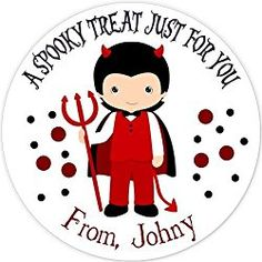 40 labels Circle Halloween kid Party Stickers, Personalized Labels, Custom Party Favor Tags, Choice of Size Halloween Labels, Halloween Stickers, Halloween Kids, Party Favor Tags, Personalized Stickers, Favors, Presents, Personalised Stickers, Host Gifts