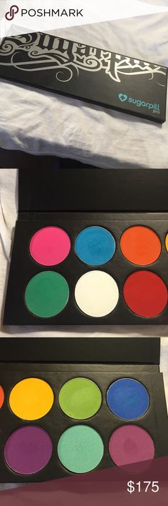 Sugarpill Pro Palette Colors are swatched or lightly used only. Not currently available from Sugarpill's site. Authentic one owner. Please read description before PMing/commenting questions.  -All items are authentic.  -Poshmark ONLY.  -NO TRADES. I'm selling stuff I've purchased and have not used. I don't want to trade for more stuff.  -NO HOLDS.  -PRICE IS FIRM.   -Items come from a clean, smoke / animal free zone. Sugarpill Makeup Eyeshadow