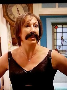 The fantastic Miranda Hart sporting a Smiffy's moustache