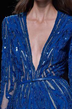 Elie Saab at Paris Spring 2015 (Details)   Pantone Classic Blue