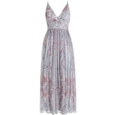 Zimmermann Arcadia Plunge V Dress ($850) ❤ liked on Polyvore featuring dresses, paisley dress, strappy dress, game day dresses, women dresses y strap dress