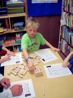 Jenga  -- substitute alpha letters for words until ready for sight words -- build a tower together
