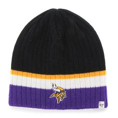 16ec23d4737 Minnesota Vikings Buddy Beanie Black 47 Brand KID Hat