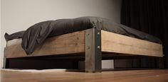 Steigerhout bed metaal | GUSSTA