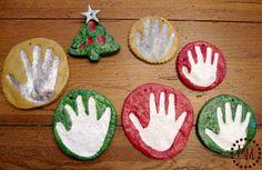 Salt Dough Handprint Ornaments - The Scrap Shoppe