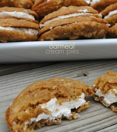 Copycat Little Debbie Oatmeal Cream Pie recipe. Perfect for lunch boxes for kids and adults!