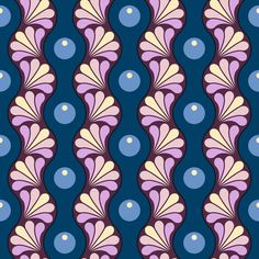 drop splash wavy stripe : twilight M3 fabric by sef on Spoonflower - custom…