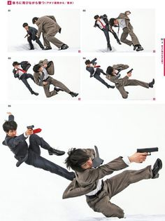 Drawing a cop flipping over another cop while they fire guns? - Drawing a cop flipping over another cop while they fire guns? There's a reference book for that! Action Pose Reference, Human Poses Reference, Pose Reference Photo, Figure Drawing Reference, Reference Book, Anatomy Reference, Action Posen, Drawing Body Poses, Fighting Poses