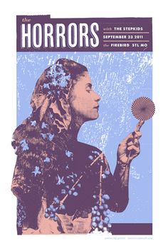 The Horrors concert poster by Jason Potter
