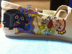 Ultimate Disney Toms (TOPS and SIDES) - Collage of the Greats. $120.00, via Etsy.