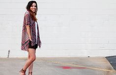 Kimono-style tunic tops are a light and easy way to layer in the summer months.They can be paired with tanks, swimsuits, and dresses. You will be