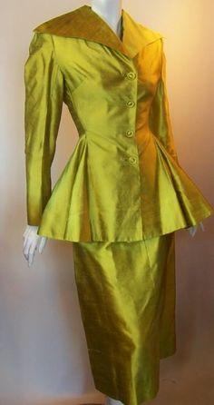 1940s silk suit, DCV archives