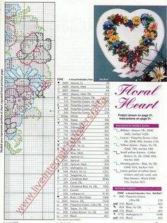 Cross-stitch Floral Heart, part 3... with the color chart... (67) Gallery.ru / Фото #3 - 4 - Hela75