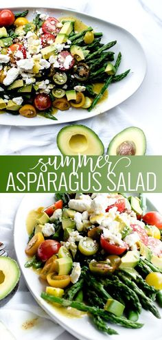 Summer Asparagus Salad Summer Asparagus Salad healthy salad recipes asparagus recipes summer salad recipes Oh So Delicioso recipe summerrecipe asparagus summersalad Healthy Eating Recipes, Healthy Salads, Vegetarian Recipes, Cooking Recipes, Healthy Asparagus Recipes, Kale Salads, Summer Salad Recipes, Salad Recipes For Dinner, Easy Summer Salads