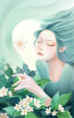 New series about the 24 solar terms (Ⅰ) on Behance Beautiful Drawings, Fairy Art, Illustrations And Posters, Surreal Art, Anime Art Girl, Chinese Art, Art Pictures, Watercolor Art, Fantasy Art