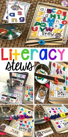Literacy Stews are a FUN letter, beginning sound, sight word, and name game for preschool, pre-k, and kindergarten. #preschool #prek #lettergame #sightwords