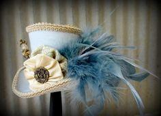 Alice in Wonderland Mini Top Hat, Bridal Facinator, Easter Hat, Tiny Top Hat, Tea Party Hat, Mad Hatter Hat