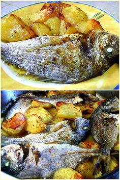 Greek Recipes, Fish Recipes, Seafood Recipes, Recipies, Cooking Recipes, Food N, Good Food, Food And Drink, Greek Cooking