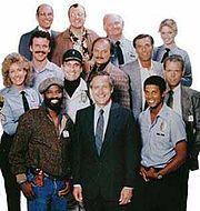 Hill Street Blues - best cop show ever!  An American serial police drama that was first aired on NBC in 1981 and ran for 146 episodes on primetime into 1987. Chronicling the lives of the staff of a single police precinct in an unnamed American city, the show received critical acclaim and its production innovations influenced many subsequent dramatic television series produced in North America. Its debut season was rewarded with eight Emmy awards.