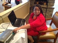 BGU's own Social Media Strategist Director, Charmayne Walker was there to help with tech.