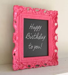 Bright FRAMED CHALKBOARD Neon Colors Teal Pink Aqua Yellow Frame Wedding Table Numbers Candy Bar Sign Birthday Party Decoration -ANY Color. $32.00, via Etsy.  Love this idea of using these as props for sessions like senior sessions or even photobooths.