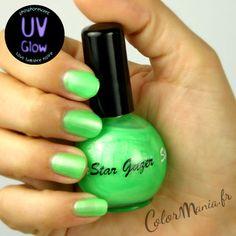 Vernis à Ongles Vert Fluo UV Phosphorescent Stargazer - (c)Color-Mania (http://www.color-mania.fr/boutique/vernis-a-ongles-uv-vert/)
