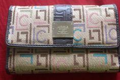 Liz Claiborne Wallet Caramel/Brown/Pink/Blue/Green/Purple Logo Women's Trifold  #LizClaiborne #Trifold