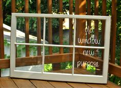 signed with love: DIY // repurposing an old window