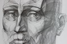 Drawing))))head)60/50 cm