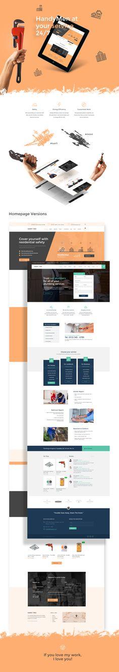 #handymen #psd #themeforest #envato #webdesign #website #design #orange #plumber #plumbing #diadea #diadea3007
