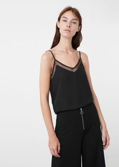 Flowy top - Shirts for Woman | MANGO USA