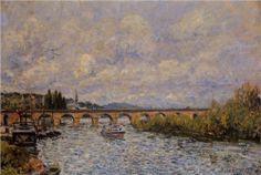 The Sevres Bridge - Alfred Sisley