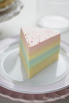 A slice of rainbow cheesecake   Flickr – Condivisione di foto!