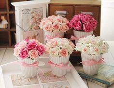 Plante Mini Roses Heureux en Pot  Fleurs Artificielles de Rose Mariage Fête
