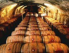 """A historical cellar of """"the King of the red wine: Barolo"""" Barolo, Italy Cuneo Piemonte"""