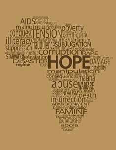 4th - I love this because all these words forming Africa are actually what Africa is all about.