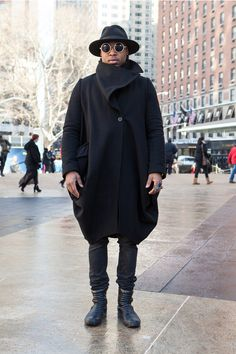 Coggles street style. All black.