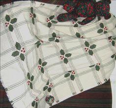 swedish weaving holly blanket