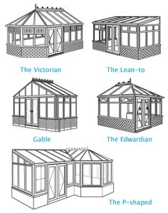 Conservatories Lean-to Gable Edwardian Victorian P-shaped # House Extension Design, House Design, Conservatory Design, Conservatory Interiors, Lean To Conservatory, Solarium Room, Casa Patio, Balkon Design, Marquise