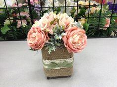 Burlap floral arrangement