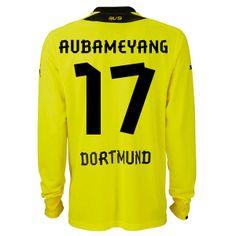 Borussia Dortmund (17 Aubameyang) Home Long Sleeve Soccer Jersey-Great and  stylish 2013 · Soccer JerseysFootball ... 590c83138