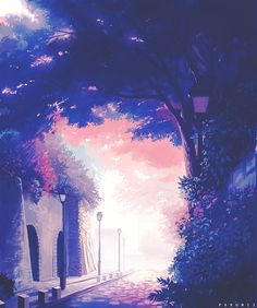 รูปภาพ anime, draw, and anime scenery Art Anime, Manga Art, Manga Anime, Fantasy World, Fantasy Art, Image Manga, Animation Background, Anime Scenery, Fantasy Landscape