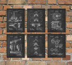 Optometry Patent Print Set Of 6 Optometrist by QuantumPrints