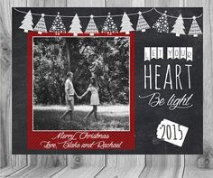Chalkboard Christmas Card   Check out this item in my Etsy shop https://www.etsy.com/listing/246435574/chalkboard-christmas-card-christmas-card