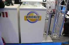 MDF Displays manufactured white melamine faced counters for Prokit to use at their exhibition.