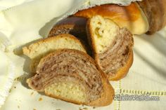 Cocoa Twisted Sweet Bread | While He Was Out