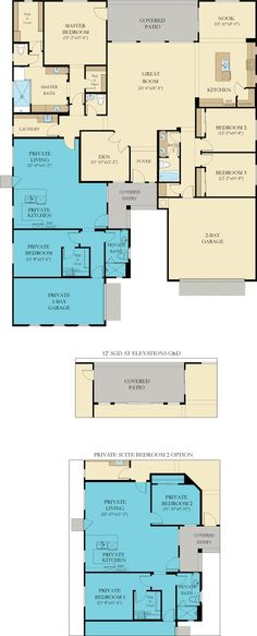 Good 2 bedroom option in granny flat. Still need bunk room and storage plan.