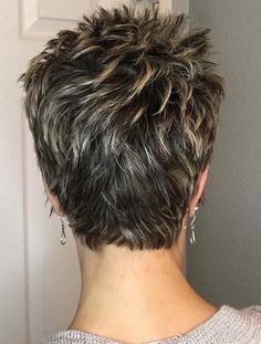 Beautiful Pixie Cuts for Older Women 2019 The UnderCut Short Grey Hair Beautiful Cuts older Pixie UnderCut women Short Layered Haircuts, Short Hairstyles For Thick Hair, Short Grey Hair, Short Hair With Layers, Short Hairstyles For Women, Curly Hair Styles, Short Pixie Cuts, Haircut Short, Back Of Short Hair