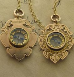 1893 Grandfather Clock Compass Necklace